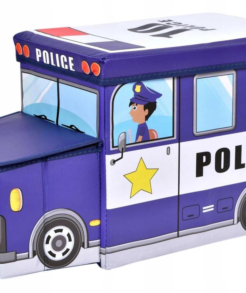POJEMNIK SCHOWEK NA ZABAWKI POLICJA PUFA CHŁOPCA