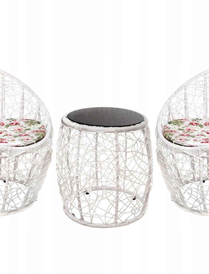 ZESTAW MEBLI BALKONOWY stolik krzesła fotel TARAS