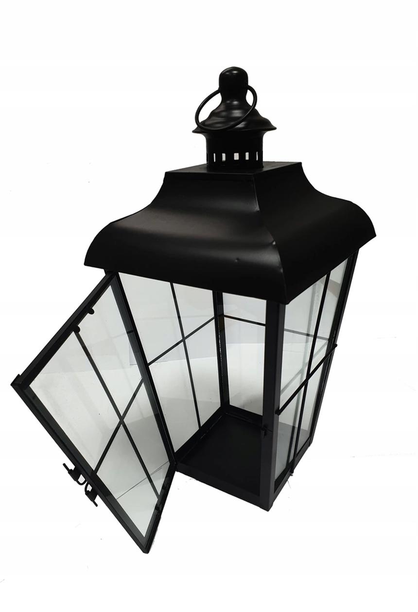 LATARENKA LAMPION LATARNIA ŚWIECZNIK METALOWY